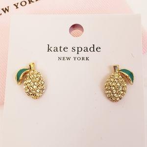 Kate Spade Picnic Perfect Lemon Stud Earrings Gold